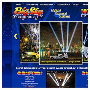 Chicago Web Design Big Sky Searchlights