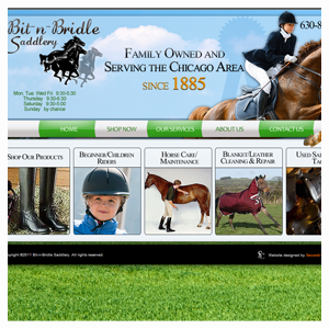 Chicago Web Design Bit-n-Bridle Saddlery