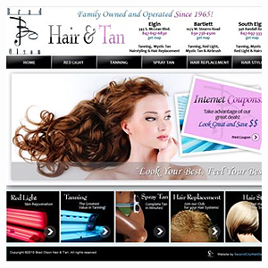 Chicago Web Design Brad Olson Hair and Tan
