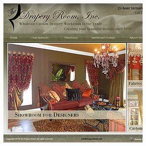 Chicago Web Design Drapery Room