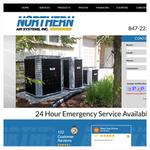 Chicago Web Design Northern Air Systems
