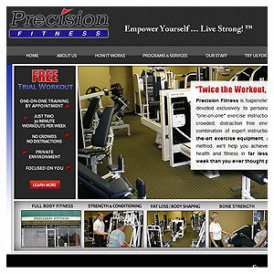Naperville Web Design Precision Fitness Inc.